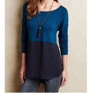 Meadow Rue for Anthropologie Color Block Tunic Sm